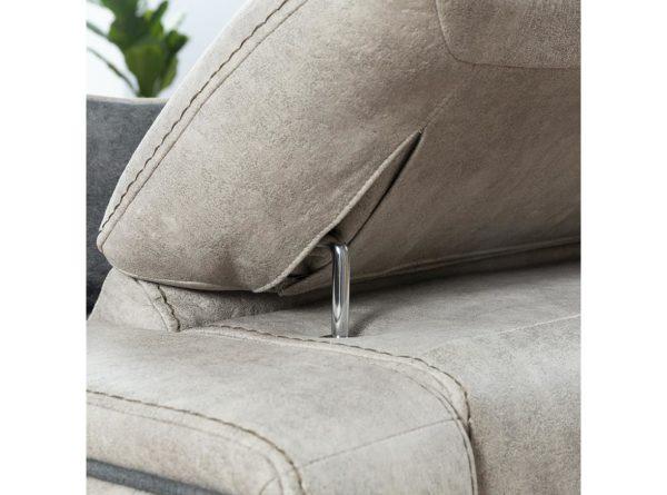manually adjustable headrest comfortable high quality sofa