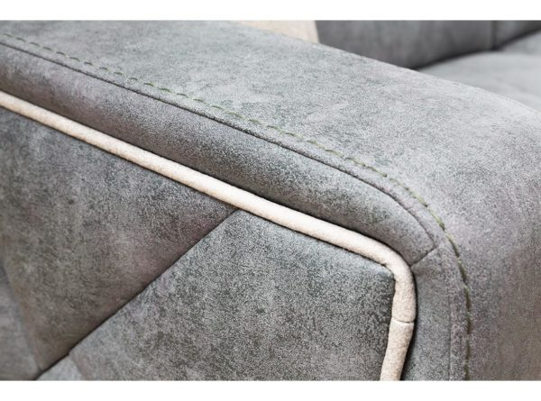 lovely detail of armrest on fabric high quality sofa