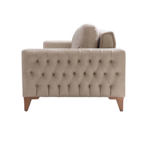 asya one-seater sofa intricate design sides anti-bacterial fabric