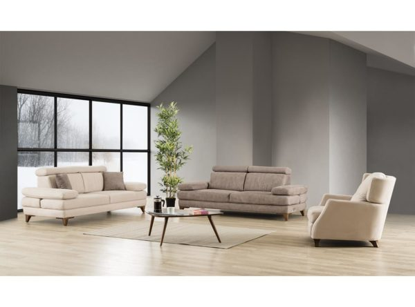 sofas with electrical mechanism manually adjustable headrests and arms