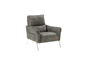 modern elegant armchair one seater with gold legs