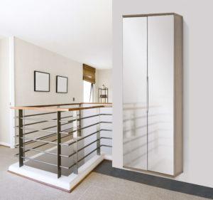 2-Mirrored Door Shoe Cabinet